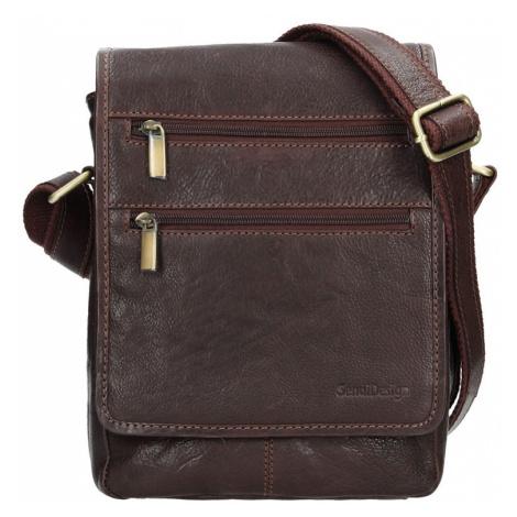 Panská kožená taška přes rameno SendiDesign Maxim - hnědá Sendi Design