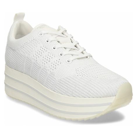 Bílé dámské tenisky na flatformě Baťa