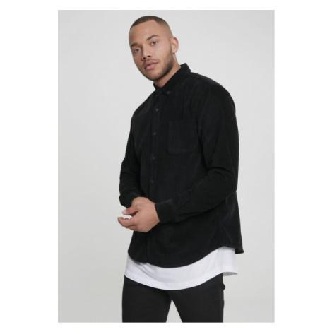 Urban Classics Corduroy Shirt black