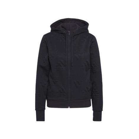 Adidas Mikina AEROREADY Jacquard Full-Zip Logo Černá