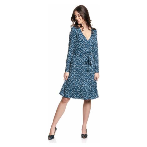 Romantické šaty modré s dlouhým rukávem Vive Maria Blueberry Girl