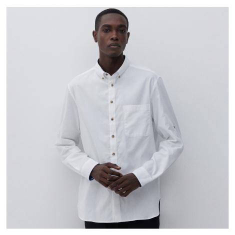 Reserved - Košile z texturované bavlny - Bílá