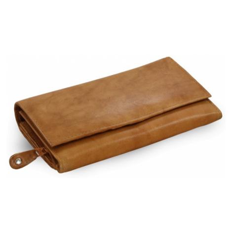 Světle hnědá dámská psaníčková kožená peněženka Imogen Arwel