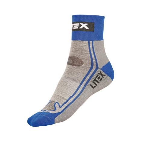 Litex 99668 Sportovní vlněné MERINO ponožky   modrá
