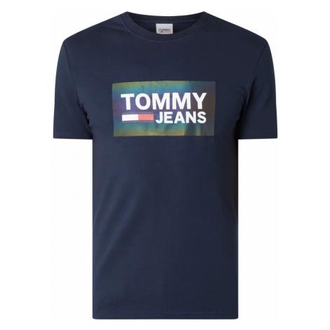 Tommy Hilfiger TOMMY JEANS pánské tmavě modré tričko TJM STRETCH TEE CENTRE LOGO