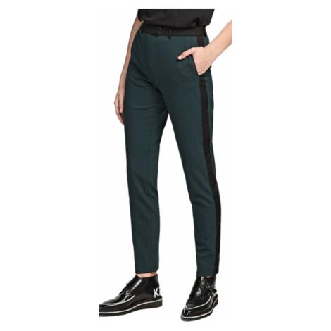 Zelené vlněné kalhoty KARL LAGERFELD