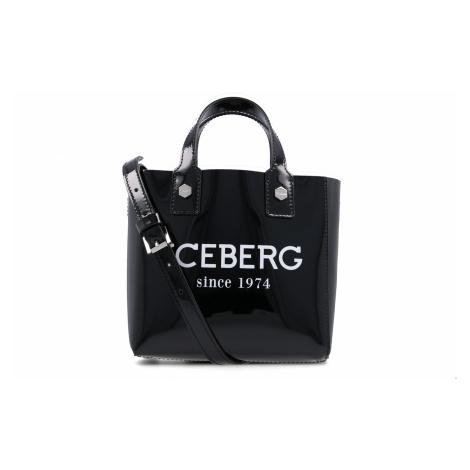 Černá kožená kabelka ICEBERG