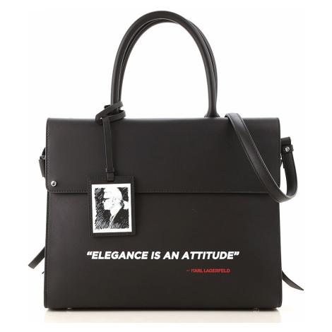 Černá kožená kabelka - KARL LAGERFELD | karl legend ikon