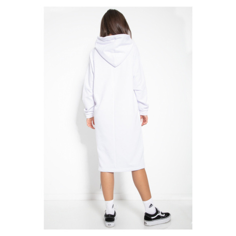 Dámské mikinové šaty s kapucí F1123