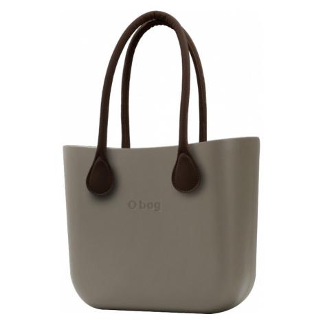 O bag kabelka Rock s hnědými dlouhými koženkovými držadly