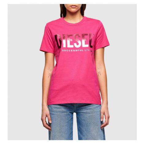 Tričko Diesel T-Sily-Wx T-Shirt - Růžová