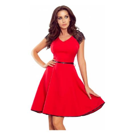 Dámské šaty Numoco 254-2   černo-červená