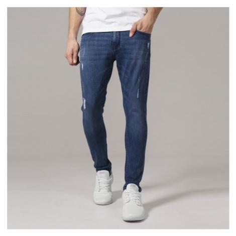 Urban Classics Skinny Ripped Stretch Denim Pants blue denim