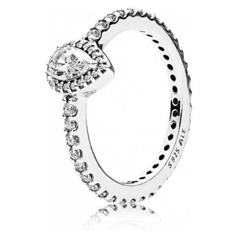 Pandora Třpytivý stříbrný prsten 196254CZ