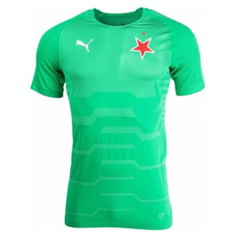 Puma SLAVIA FINAL EVOKNIT GK zelená - Pánské brankářské triko