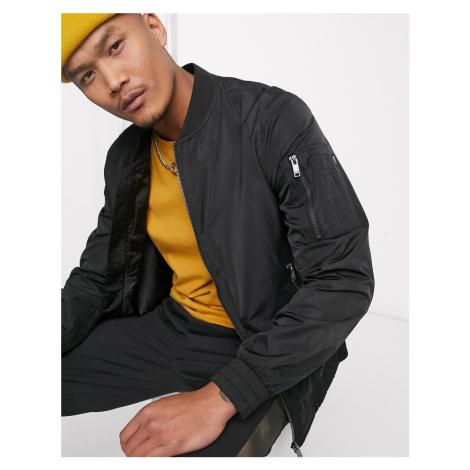 Bershka bomber jacket in black