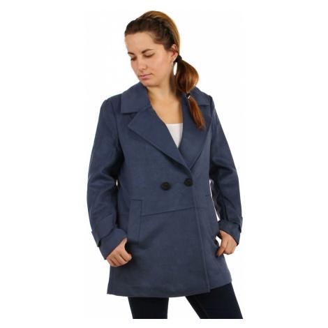 Dámský objemný kabát na knoflík