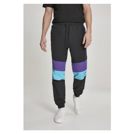 3-Tone Crinkle Track Pants - black/ultraviolet/aqua Urban Classics