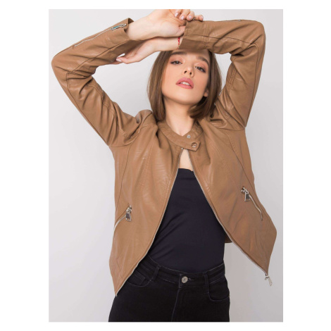 Camel biker jacket Fashionhunters
