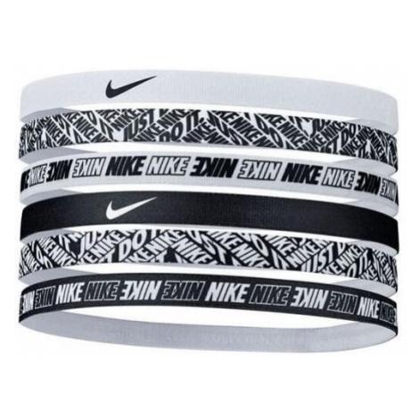 Čelenky Nike Headbands Printed 6K Černá / Bílá