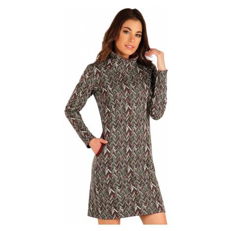 LITEX Mikinové šaty s dlouhým rukávem 7A048999 tisk