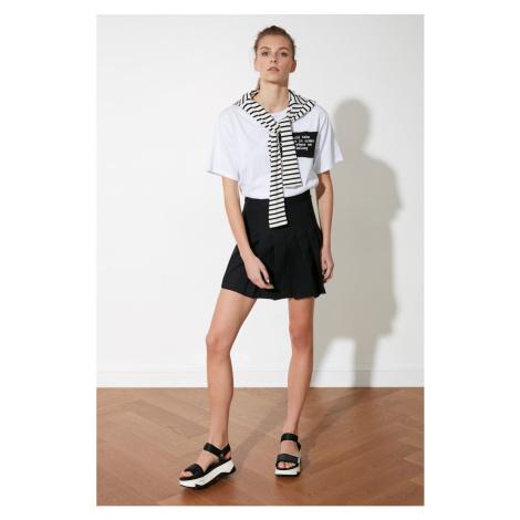 Trendyol Black Pleated Skirt