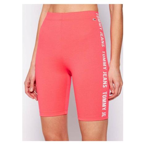 Tommy Jeans dámské růžové šortky Tommy Hilfiger