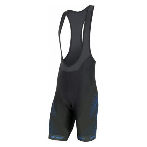 CYKLO TEAM UP Pánské cyklo kalhoty se šlemi 20100056 černá/modrá Sensor