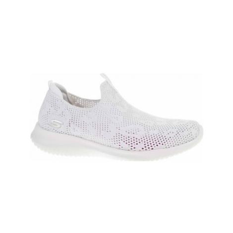 Skechers Ultra Flex - Fast Talker white-silver Bílá