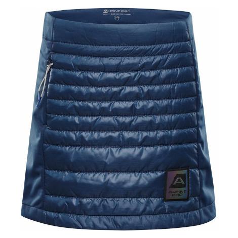 Dětská zimní sukně Alpine Pro TRINITO 6 - tmavě modrá