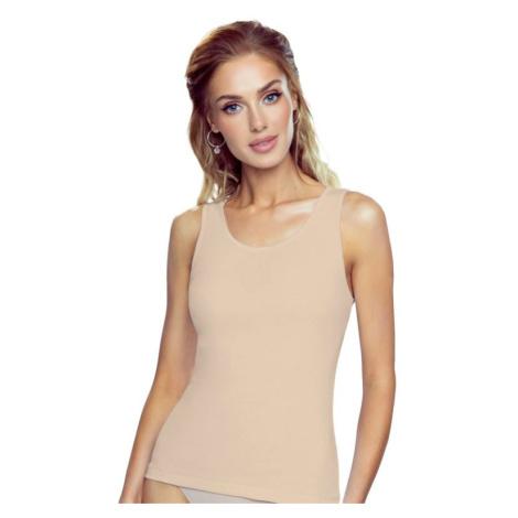 Béžová spodní košilka Clarissa s širokými ramínky Eldar