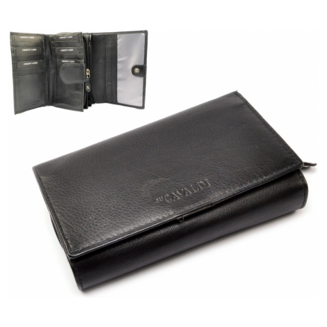 Černá dámská peněženka kožená Cavaldi
