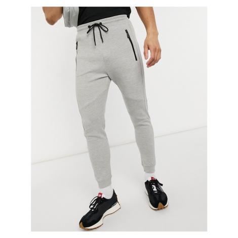 Bershka piping joggers in grey
