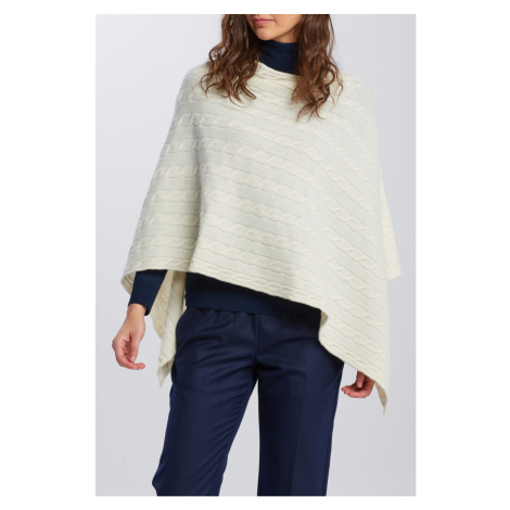 PONČO GANT D2. LAMBSWOOL CABLE PONCHO