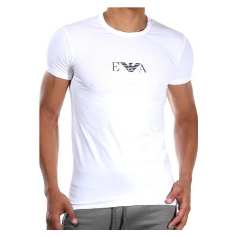 Pánské tričko Emporio Armani 111267 CC715 bílá Bílá