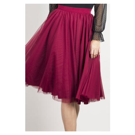 Týlová plisovaná sukně délky midi IVON