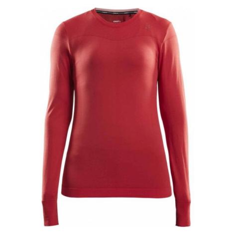 Craft FUSEKNIT COMFORT RN LS W červená - Dámské funkční triko