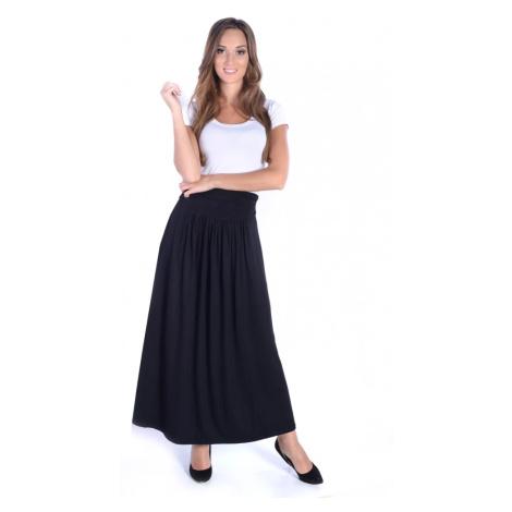 Černá dlouhá sukně s širokou gumou Oxyd