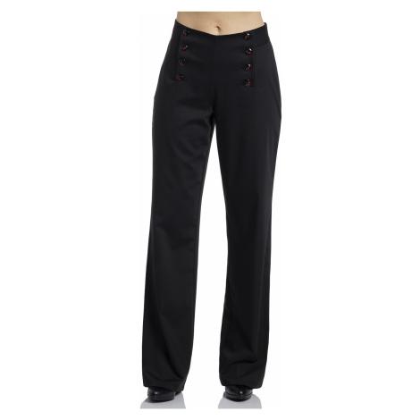 Dámské kalhoty černé s vysokým pasem Pussy Deluxe Sweet Cherries
