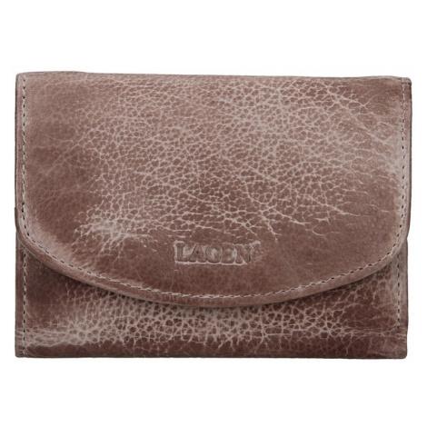 Dámská kožená peněženka Lagen Norra - béžovo-hnědá