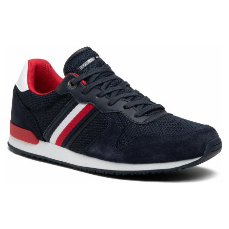 Sneakersy TOMMY HILFIGER - Iconic Material Mix Runner FM0FM03470 Desert Sky DW5