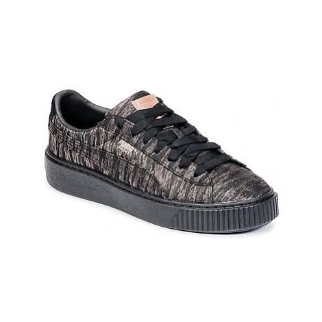 Puma Basket Platform Bi Color Černá