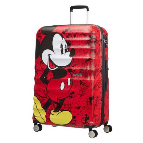American Tourister Cestovní kufr Wavebreaker Disney Spinner 96 l - Mickey Comics Red