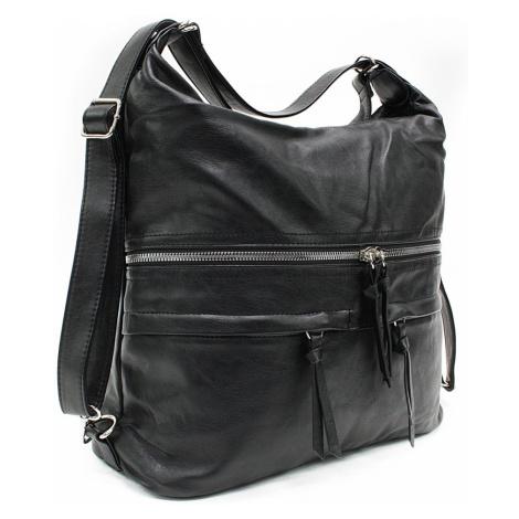 Černá dámská kabelka s kombinací batohu Destinie Tapple