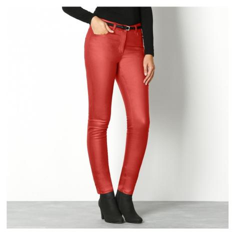 Kalhoty,vn.délka 76cm terakota