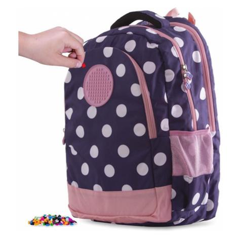Školní kreativní pixelový batoh modrý s puntíky PXB-06-84 PIXIE CREW
