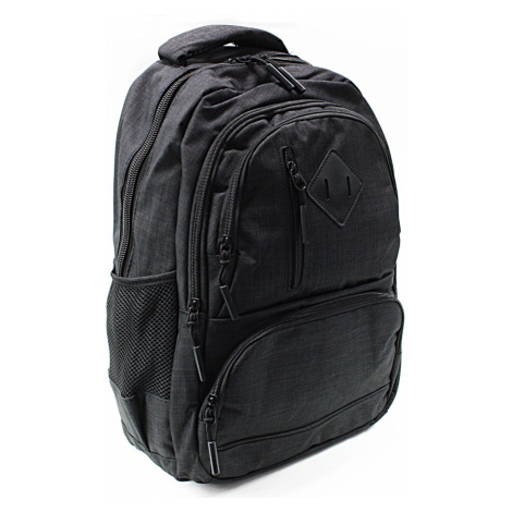 Černý studentský prostorný batoh Kieran New Berry