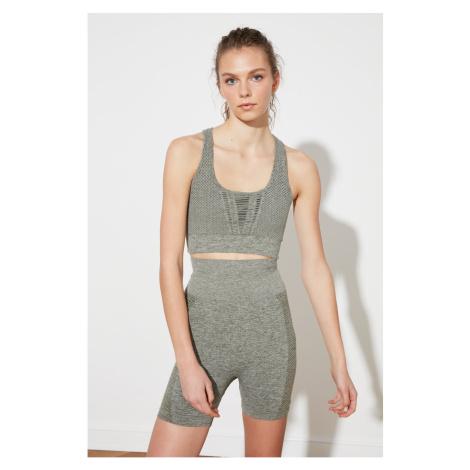 Trendyol Khaki Seamless Melancholy Sports Shorts