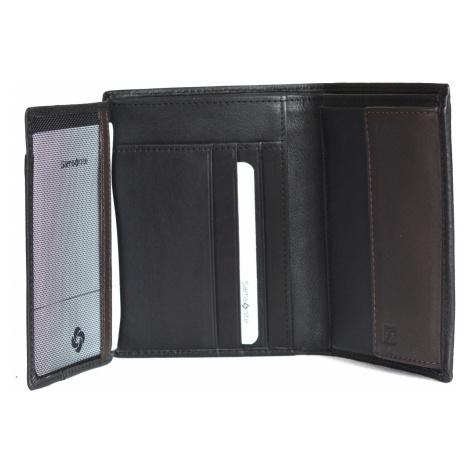 Samsonite pánská peněženka kožená NYX 3 SLG vybavenější černo-hnědá, 10 x 1 x 13 (87969/1041)