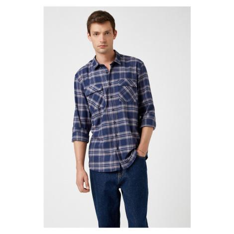 Koton Men's Navy Blue Shirt